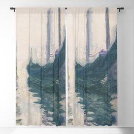 Claude Monet, Gondola in Venice 1908 Blackout Curtain