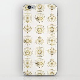 Evil Eyes – Gold Palette iPhone Skin