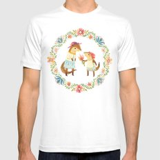 Otterly Grateful MEDIUM White Mens Fitted Tee