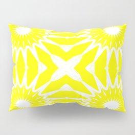 Yellow & White Pinwheel Flowers Pillow Sham