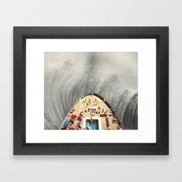 a great big wave (to wash it all away) - collab with sammy slabbinck Framed Art Print