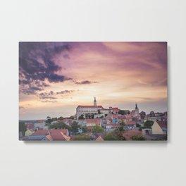 Mikulov City Landscape Metal Print
