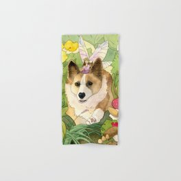 The Faerie and the Welsh Corgi Hand & Bath Towel