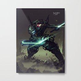 Jetblack Reaper Level 2 Metal Print
