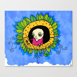 flower machine Canvas Print