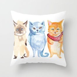 Jack, Jessup and Jill Throw Pillow