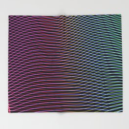 lines and patterns wing light painting Throw Blanket