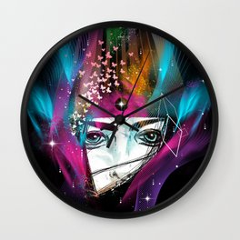 Femina Nebulae Wall Clock