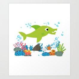 Grandpa Shirt - Grandpa Shark Art Print