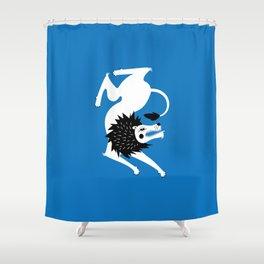 Dancing Beasts: Lion Shower Curtain