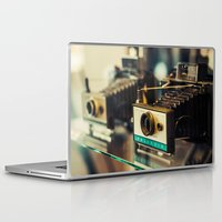 cameras Laptop & iPad Skins featuring Polaroid Cameras by Chee Sim