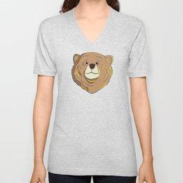 Happy Bear Unisex V-Neck