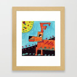 Squareland -Deer Framed Art Print