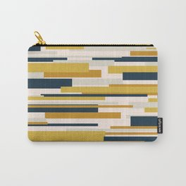 Wright. Modern Geometric Abstract in Mustard Yellow, Navy Blue, Pale Blush Pink, and Taupe Carry-All Pouch