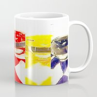 power rangers Mugs featuring Power Rangers by americanmikey