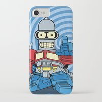 bender iPhone & iPod Cases featuring Optimus Bender by darko888