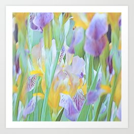 An Iris Abstract Art Print