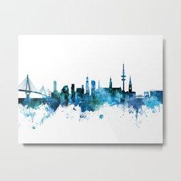 Hamburg Germany Skyline Metal Print