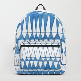 Indigo Triangle Pattern Backpack