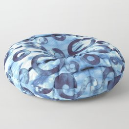 Tie-Dye Ringer Floor Pillow