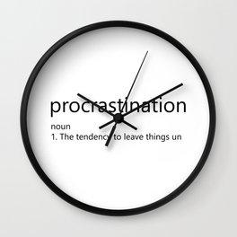 Procrastination Definition Wall Clock
