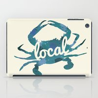 maryland iPad Cases featuring Maryland Blue Crab Local by O'Postrophy