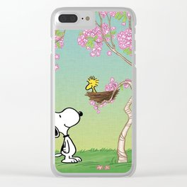 Woodstock in the Cherry Blossoms Clear iPhone Case