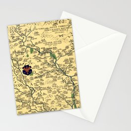 Map of Moravia 1569 Stationery Cards