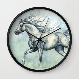 Running arabian horse Wall Clock