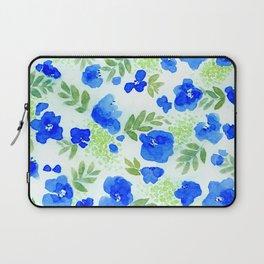 Floret (Blue) Laptop Sleeve