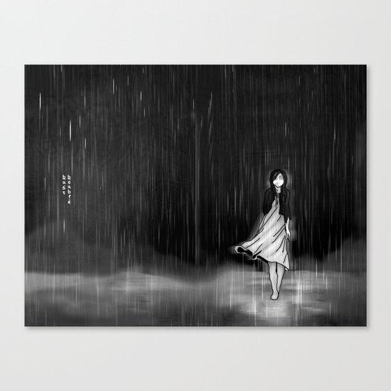 ... as the rain fell on me Canvas Print