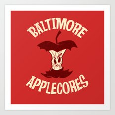 Applecores Art Print