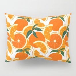 Orange Harvest - White Pillow Sham