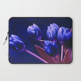 Blue Poetry of Tulips Laptop Sleeve