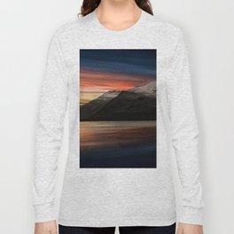 Lake Sunset Snowdonia Long Sleeve T-shirt