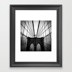 Broolyn Bridge Framed Art Print