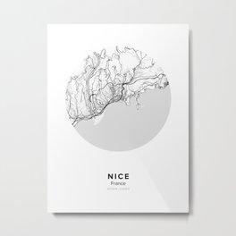 Nice Circle Map Metal Print