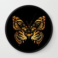 camouflage Wall Clocks featuring Camouflage by Enkel Dika
