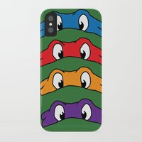 tmnt iPhone & iPod Cases featuring TMNT by Kaylabeaisaflea