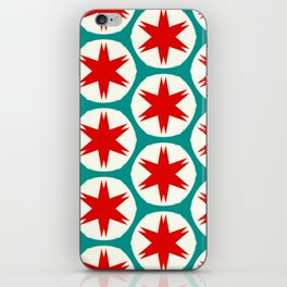 Retro Red Stars II iPhone Skin
