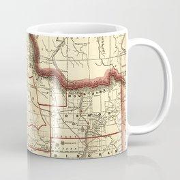 Vintage Map of Idaho (1896) Coffee Mug