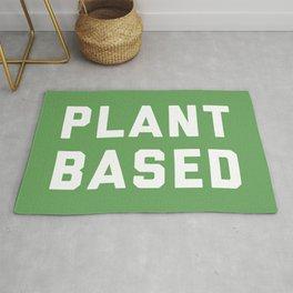 Plant Based Vegan Quote Rug