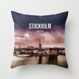 Stockholm Wallpaper Throw Pillow