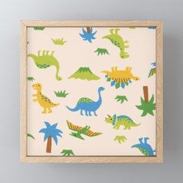 Dinosaurs colorfull Framed Mini Art Print