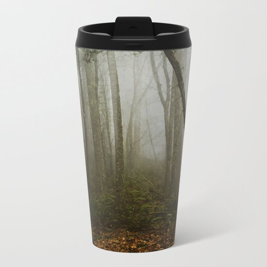 Misty Woods Metal Travel Mug