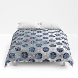 Silver Choku Rei Symbol Reiki Pattern on Pearl Comforters