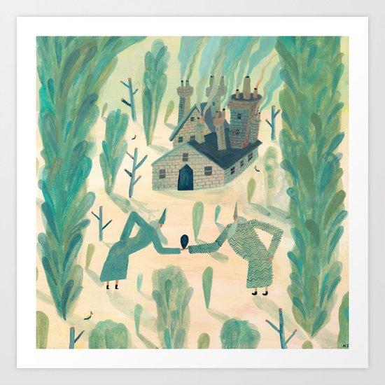 A Wizard's Garden Art Print