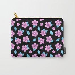 Sakura // Black Carry-All Pouch