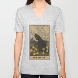 Five of Cups Unisex V-Neck