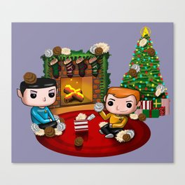 The Trouble with Christmas Canvas Print